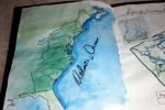 Map of Philidelphia to Hunting Island